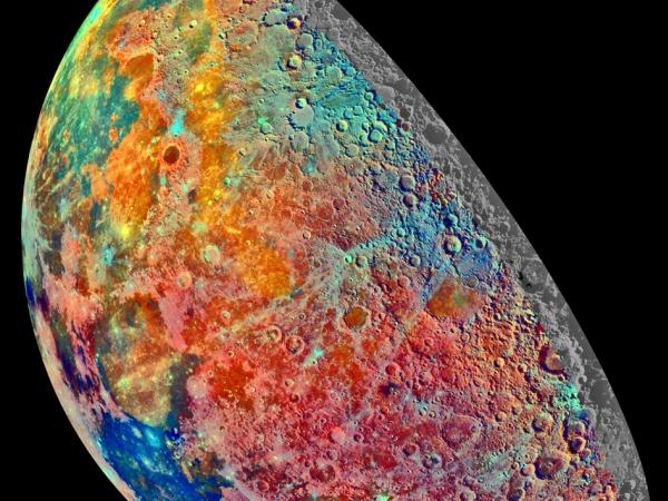 Mond in Falschfarben