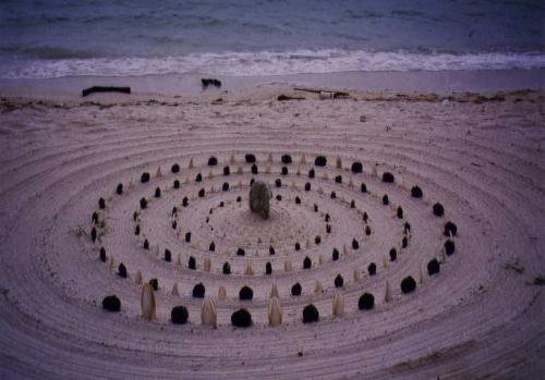 Mandala am Strand